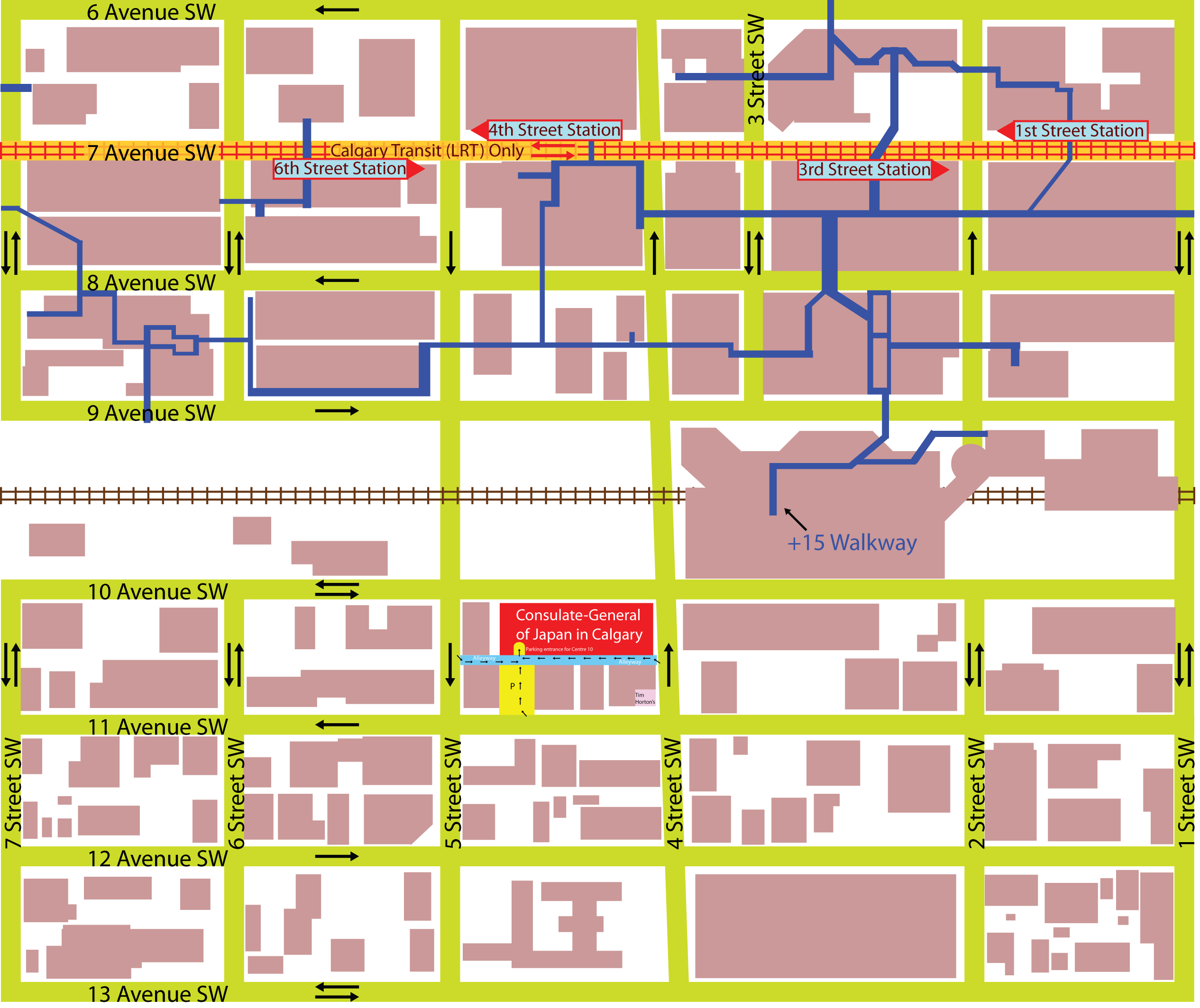 Map to Consulate-General